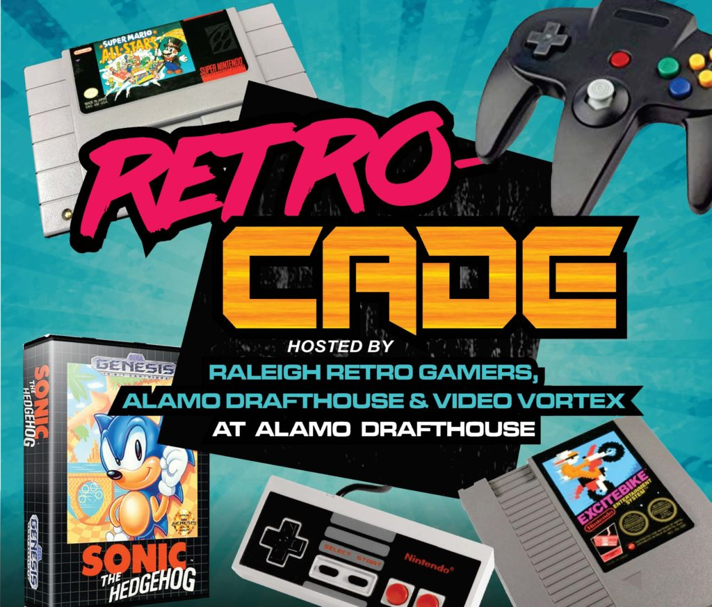 raleigh retrog amers, alamo drafthouse, retro games raleigh