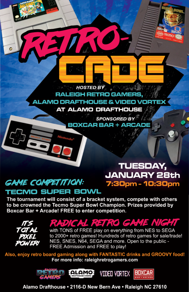 raleigh retro gamers alamo drafthouse