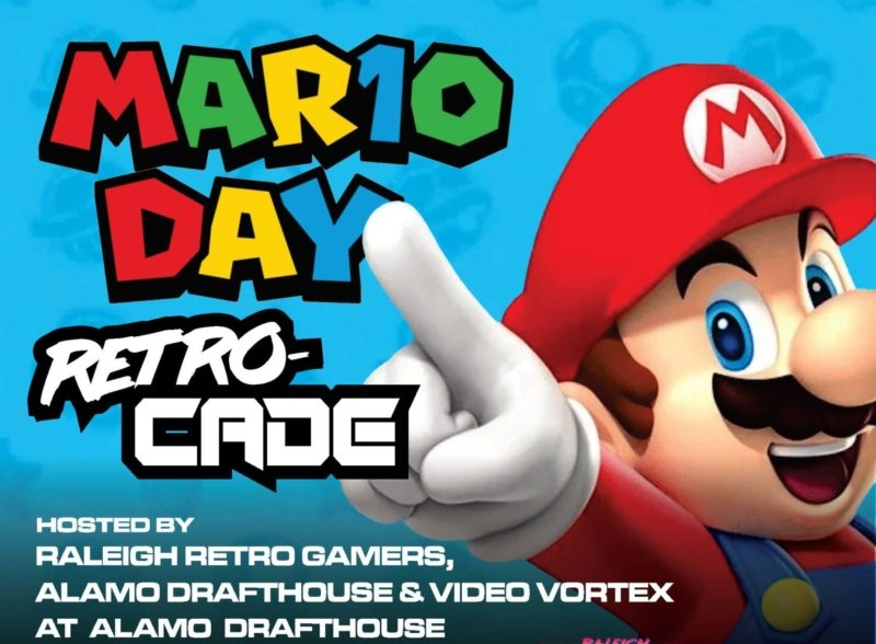 raleigh retro gamers, mario 10, alamo drafthouse, retrocade, mario day, retro gaming raleigh