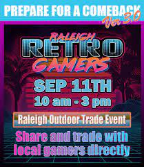 raleigh retro gamers trade event